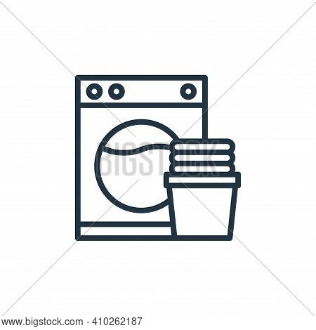 washer machine icon isolated on white background from hotel collection. washer machine icon thin lin
