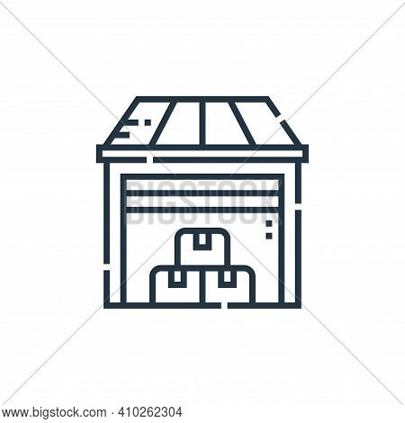 warehouse icon isolated on white background from delivery collection. warehouse icon thin line outli