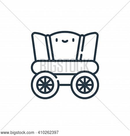 wagon icon isolated on white background from desert collection. wagon icon thin line outline linear
