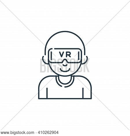 virtual reality icon isolated on white background from stay at home collection. virtual reality icon