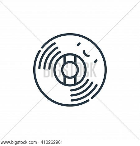 vinyl record icon isolated on white background from reggae collection. vinyl record icon thin line o