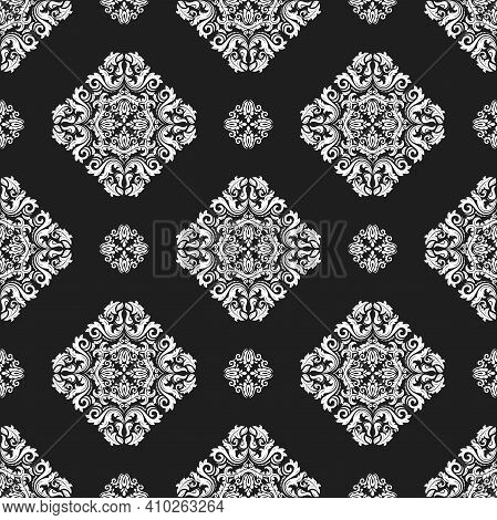 Orient Classic Pattern. Seamless Abstract Background With Vintage Elements. Orient Black And White B