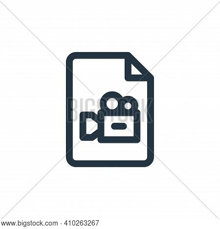 video icon isolated on white background from document and files collection. video icon thin line out