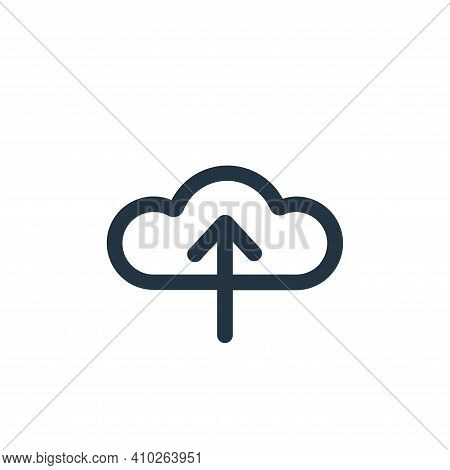 upload icon isolated on white background from device collection. upload icon thin line outline linea