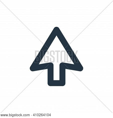 up arrow icon isolated on white background from user interface collection. up arrow icon thin line o