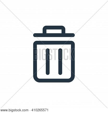trash icon isolated on white background from interface collection. trash icon thin line outline line