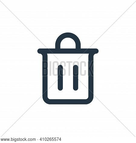 trash icon isolated on white background from user interface collection. trash icon thin line outline