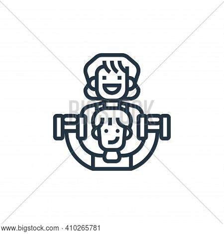 trainer icon isolated on white background from fitness collection. trainer icon thin line outline li