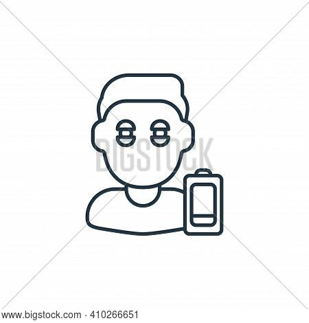 tiredness icon isolated on white background from coronavirus collection. tiredness icon thin line ou