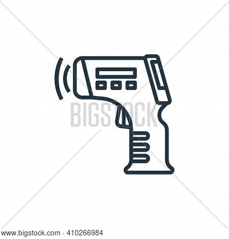 thermometer icon isolated on white background from coronavirus collection. thermometer icon thin lin