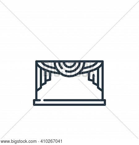 theater icon isolated on white background from fame collection. theater icon thin line outline linea