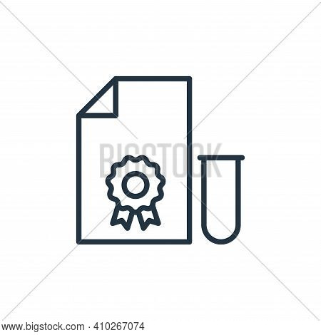 test icon isolated on white background from stop virus collection. test icon thin line outline linea