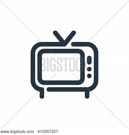television icon isolated on white background from video collection. television icon thin line outlin