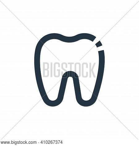 teeth icon isolated on white background from medical collection. teeth icon thin line outline linear
