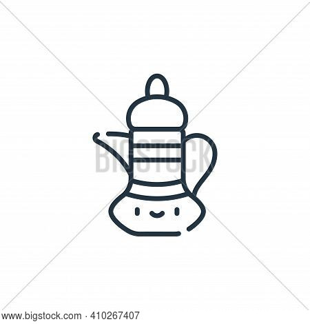 teapot icon isolated on white background from ramadan collection. teapot icon thin line outline line