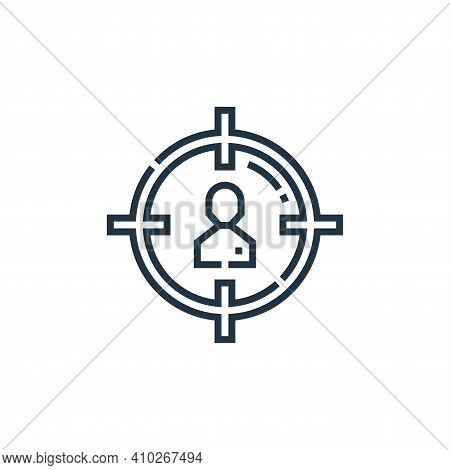 target audience icon isolated on white background from marketing collection. target audience icon th