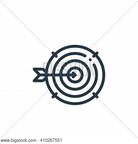 target icon isolated on white background from design thinking collection. target icon thin line outl