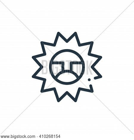 sun icon isolated on white background from mexico collection. sun icon thin line outline linear sun