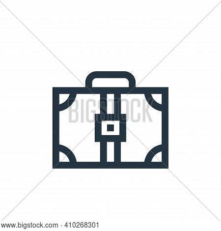 suitcase icon isolated on white background from hippies collection. suitcase icon thin line outline