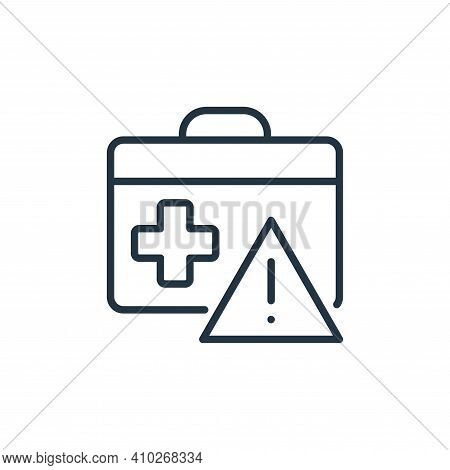 suitcase icon isolated on white background from stop virus collection. suitcase icon thin line outli