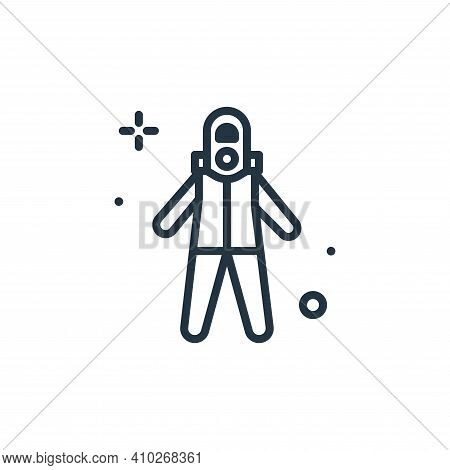 suit icon isolated on white background from coronavirus collection. suit icon thin line outline line