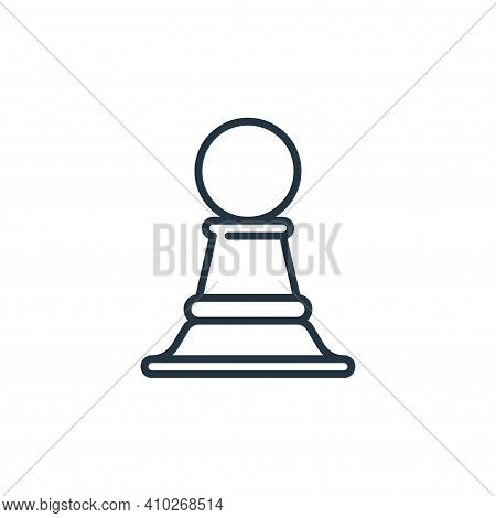 strategy icon isolated on white background from management collection. strategy icon thin line outli