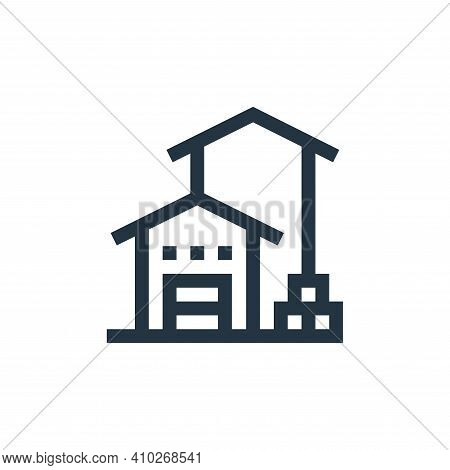 storehouse icon isolated on white background from manufacturing collection. storehouse icon thin lin