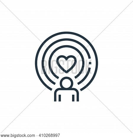spirit icon isolated on white background from work life balance collection. spirit icon thin line ou