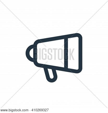 speaker icon isolated on white background from device collection. speaker icon thin line outline lin