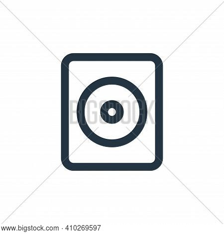 sound system icon isolated on white background from multimedia collection. sound system icon thin li