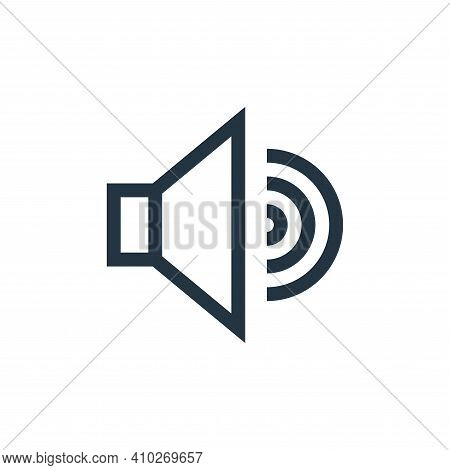 sound icon isolated on white background from web essentials collection. sound icon thin line outline