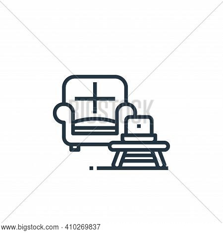 sofa icon isolated on white background from work from home collection. sofa icon thin line outline l