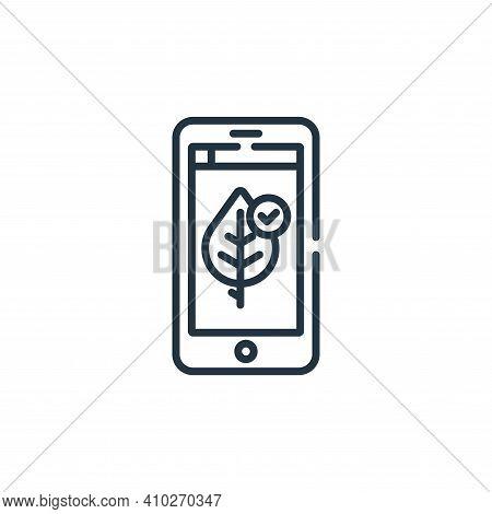smart farm icon isolated on white background from smart farm collection. smart farm icon thin line o