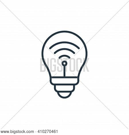 smart bulb icon isolated on white background from internet of things collection. smart bulb icon thi