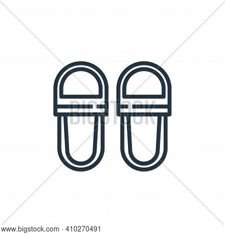 slippers icon isolated on white background from hotel collection. slippers icon thin line outline li