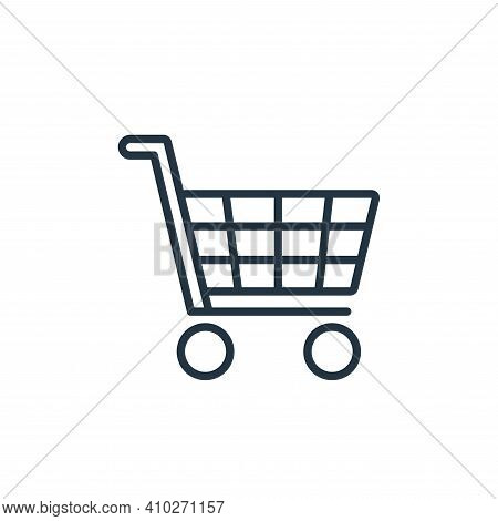 shopping cart icon isolated on white background from ecommerce collection. shopping cart icon thin l
