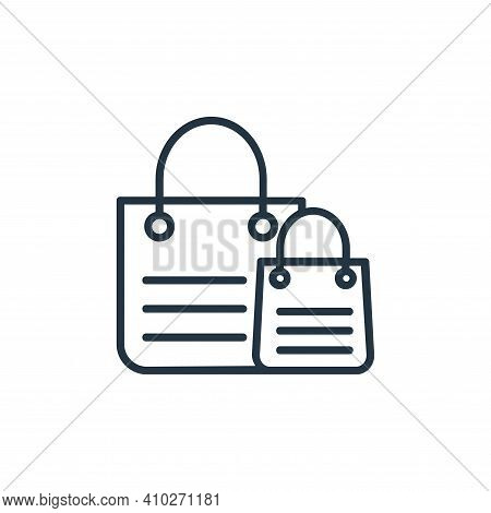 shopping bags icon isolated on white background from shopping line icons collection. shopping bags i