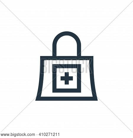 shopping bag icon isolated on white background from pharmacy collection. shopping bag icon thin line