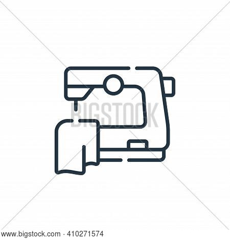 sewing icon isolated on white background from free time collection. sewing icon thin line outline li
