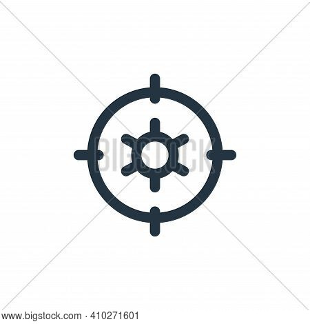 setting icon isolated on white background from web apps seo collection. setting icon thin line outli