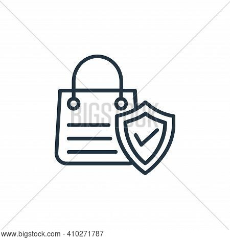 secure shopping icon isolated on white background from shopping line icons collection. secure shoppi