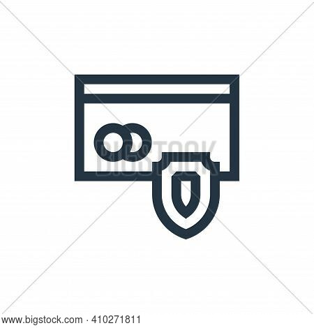 secure payment icon isolated on white background from payment collection. secure payment icon thin l