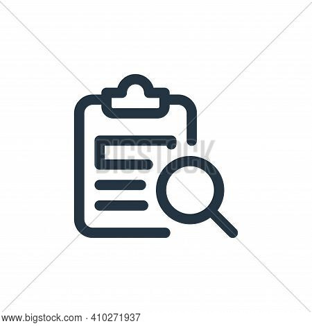 search icon isolated on white background from web apps seo collection. search icon thin line outline