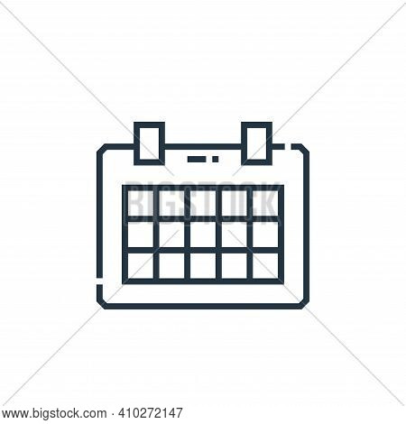 schedule icon isolated on white background from marketing collection. schedule icon thin line outlin