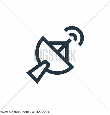 satellite dish icon isolated on white background from news collection. satellite dish icon thin line