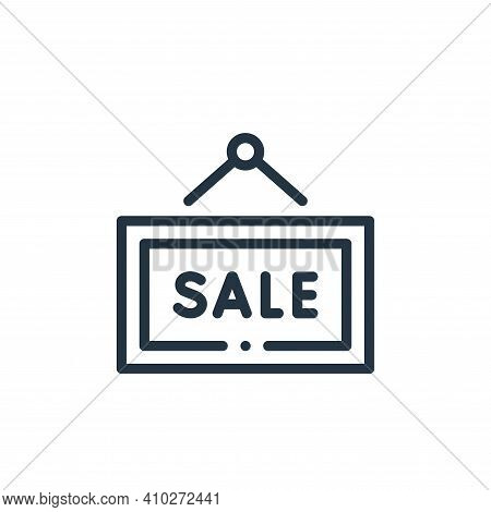 sale sign icon isolated on white background from online shopping collection. sale sign icon thin lin