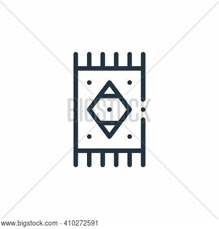 rug icon isolated on white background from mexico collection. rug icon thin line outline linear rug