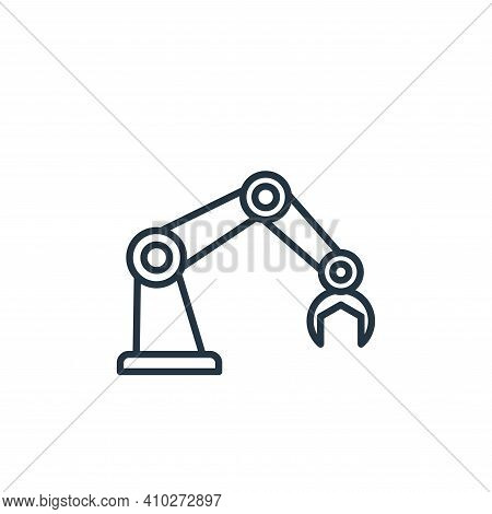 robot arm icon isolated on white background from robotics collection. robot arm icon thin line outli
