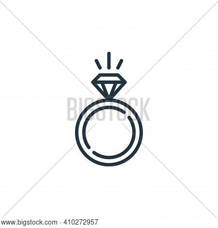 ring icon isolated on white background from mall collection. ring icon thin line outline linear ring