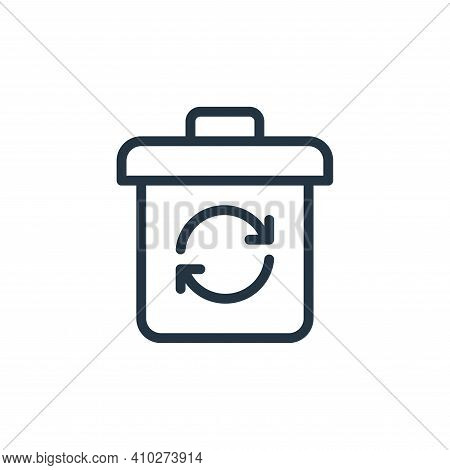 recycle icon isolated on white background from work office supply collection. recycle icon thin line